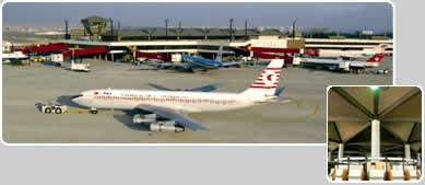AIRPORT TERMINAL BUILDING ATATURK INTERNATIONAL AIRPORT ISTANBUL / TURKEY
